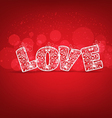 Love for valentines vector image