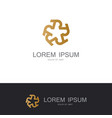 round star gold decoration logo vector image