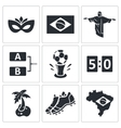 Soccer icon collection vector image