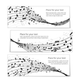 wavy music banners vector image
