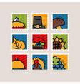 Thanksgiving Day stamp set Harvest vector image