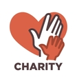 Donation and volunteer work icon vector image