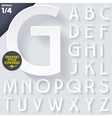 Modern flat alphabet with long ambient shadow vector image