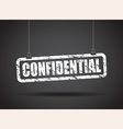 confidential white vector image
