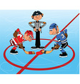 Ice hockey cartoon vector image