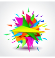 Abstract geometric shapes explosion vector image vector image