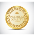 Gold Premium Quality Label vector image