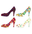 stylized woman shoes vector image