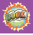 BOOM Wording Sound Effect for Comic Speech vector image