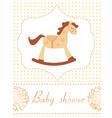 Baby shower rocking horse vector image