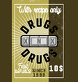 color vintage drugs banner vector image