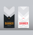 design of black and white vertical web banners vector image