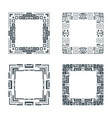 ethnic design decorative geometric frames set vector image