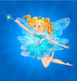 fairy magic wand lue background vector image