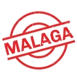 Malaga rubber stamp vector image