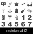 mobile icon set 2 gray icons on white background vector image