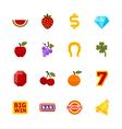Slot Machine Icons vector image