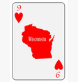 usa playing card 9 hearts vector image