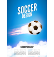 Soccer game design template Football poster vector image