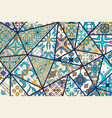 decorative background mosaic patchwork vector image