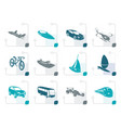 stylized different kind of transportation vector image vector image