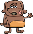 funny dog character cartoon vector image