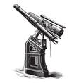 Equatorial telescope vector image