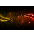 dark red wave abstract background vector image vector image