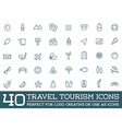 Set of Travel Tourism and Holiday Elements Icons vector image
