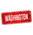 Washington red stamp isolated on white background vector image