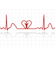 abstract ecg vector image