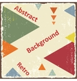 Avant-Garde retro triangle background vector image