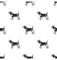 Beagle icon in black style for web vector image