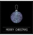 Christmas ball Glitter violet blue Merry vector image