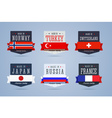 Made in badges set vector image