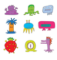 Monsters Cute Set vector image