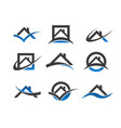 real estate house roof icons vector image