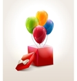 Set of colourful birthday or party balloons with vector image