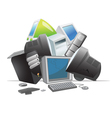 recycling computers vector image vector image