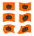 Flag Halloween Sign set for terrible holiday vector image