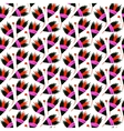 seamless floral pattern with black tulips vector image
