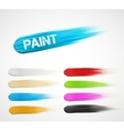 Paint strokes vector image