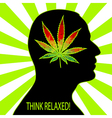Think relaxed vector image