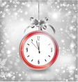 Luxury background with New year clock in Christmas vector image