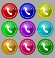 Phone sign icon Support symbol Call center Symbol vector image