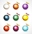 Christmas balls with snowflakes isolated on white vector image