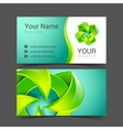 abstract creative business cards set vector image