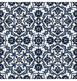Arabesque seamless pattern in blue and white vector image