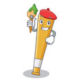 artist baseball bat character cartoon vector image