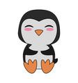 cute penguin cartoon vector image